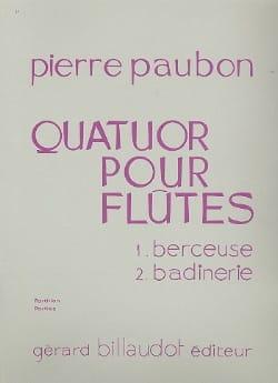 Quatuor pour flûtes - Pierre Paubon - Partition - laflutedepan.com