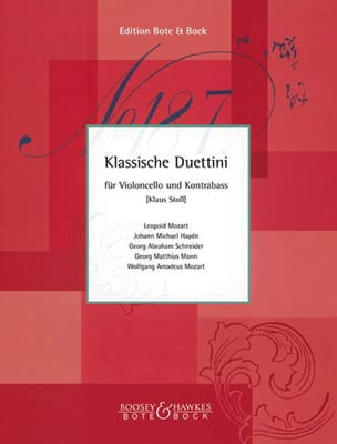 Klaus Stoll - Klassische Duettini – Cello Kontrebass - Partition - di-arezzo.fr