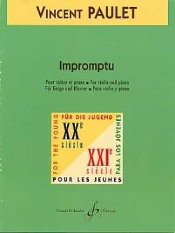 Vincent Paulet - Impromptu - Partition - di-arezzo.fr
