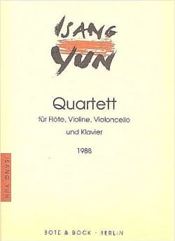Isang Yun - Quatuor (1988) - Partition - di-arezzo.fr