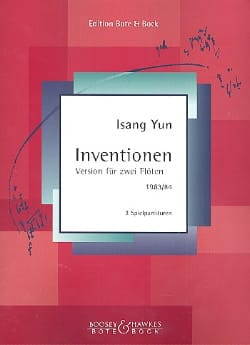 Isang Yun - Inventionen (1983/84) – 2 Flöten - Partition - di-arezzo.fr
