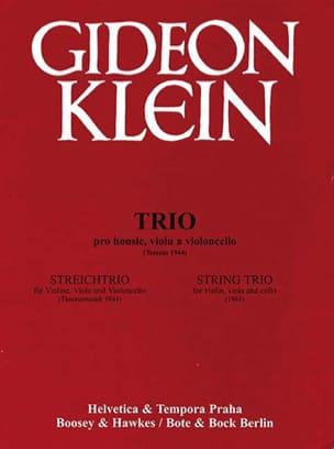 Gideon Klein - Streichtrio 1944 - Partitur Stimmen - Sheet Music - di-arezzo.co.uk