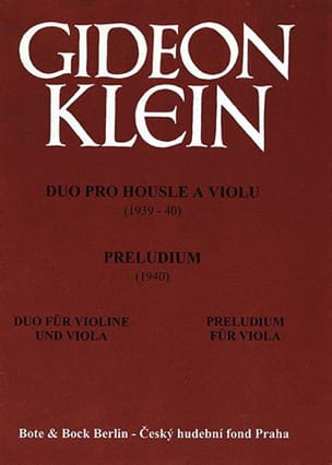 Gideon Klein - Duo for Violin and Viola - Prelude for Alto Only - Sheet Music - di-arezzo.co.uk