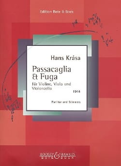 Hans Krása - Passacaglia und Fuge - Partitur Stimmen - Sheet Music - di-arezzo.co.uk