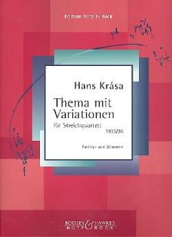 Hans Krása - Thema mit Variationen –Partitur + Stimmen - Partition - di-arezzo.fr