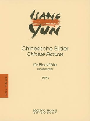 Isang Yun - Chinesische Bilder - Blockflöte - Sheet Music - di-arezzo.co.uk