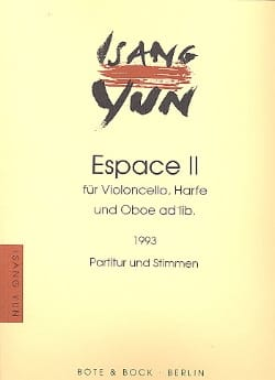Isang Yun - Space II - Violoncello, Harfe and Oboe ad lib. - Sheet Music - di-arezzo.com