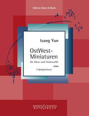 Isang Yun - OstWest-Miniaturen - Oboe und Violoncello - Sheet Music - di-arezzo.co.uk