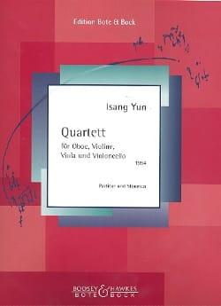 Quartett für Oboe und Streichtrio 1994 Isang Yun laflutedepan