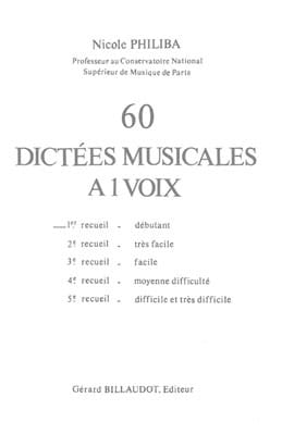 Nicole Philiba - 60 Musical Dictations with 1 Voice - Volume 1 - Sheet Music - di-arezzo.co.uk