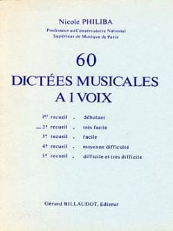 Nicole Philiba - 60 1-Voice Musical Dictations - Volume 2 - Sheet Music - di-arezzo.co.uk