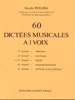 Nicole Philiba - 60 One-Voice Musical Dictations - Volume 3 - Partition - di-arezzo.co.uk