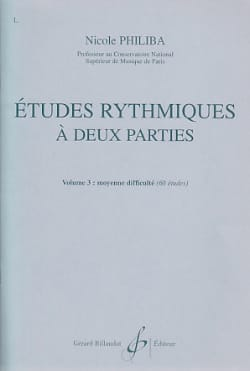 Nicole Philiba - Rhythmic studies with 2 parts vol.3 - Sheet Music - di-arezzo.com
