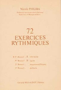 Nicole Philiba - 72 Rhythmic Exercises - Volume 1A - Sheet Music - di-arezzo.co.uk