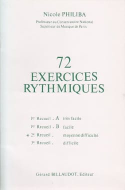 Nicole Philiba - 72 Rhythmic Exercises - Volume 2 - Sheet Music - di-arezzo.co.uk