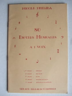 Nicole Philiba - 80 Musical Dictations with 1 Voice - Volume 1 - Sheet Music - di-arezzo.com