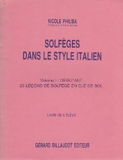 Solfèges style italien – Volume 1 - Elève - laflutedepan.com