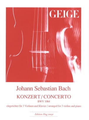 BACH - Concerto BWV 1064 - 3 Violins and Piano - Sheet Music - di-arezzo.com