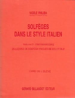 Solfèges style italien - Volume 2 - Elève - laflutedepan.com