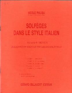 Solfèges style italien - Volume 4 - Elève - laflutedepan.com