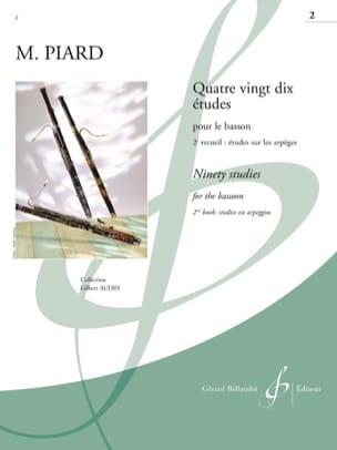 Marius Piard - 90 Studies - Volume 2 - Partition - di-arezzo.co.uk