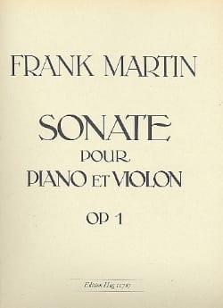 Sonate op. 1 Frank Martin Partition Violon - laflutedepan