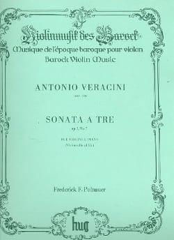 Antonio Veracini - Sonata a tre op. 1 n° 7 –2 Violini e piano - Partition - di-arezzo.fr