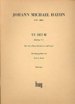 Te Deum - Partitur - Michael Haydn - Partition - laflutedepan.com