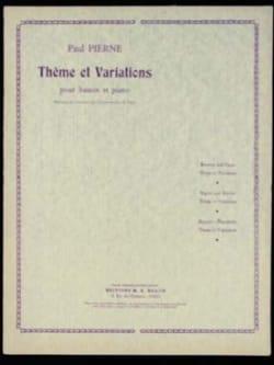 Thème et Variations Paul Pierné Partition Basson - laflutedepan
