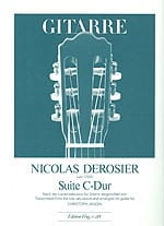 Nicolas Derosier - Suite C-Dur -Gitarre - Partition - di-arezzo.fr