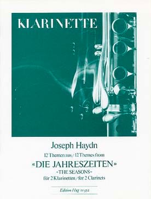 HAYDN - Die Jahreszeiten, 12 Themen - 2 Klarinetten - Partition - di-arezzo.fr
