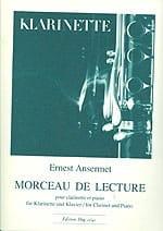 Morceau de lecture - Ernest Ansermet - Partition - laflutedepan.com