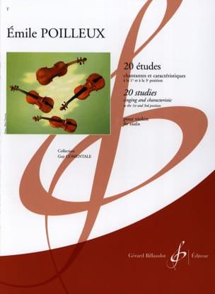 Emile Poilleux - 20 Etudes - Partition - di-arezzo.fr