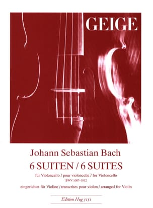 BACH - 6 Suites BWV 1007-1012 - Violin - Sheet Music - di-arezzo.co.uk