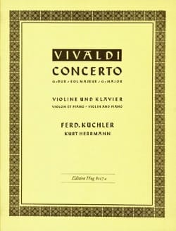 VIVALDI - Concerto in G major - Violin - Sheet Music - di-arezzo.co.uk