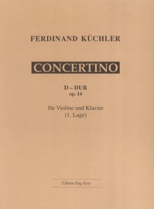 Ferdinand Küchler - Concertino D-Dur op. 14 - Sheet Music - di-arezzo.co.uk