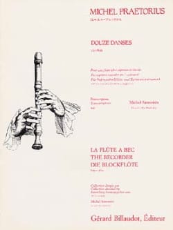 Douze danses Michael Praetorius Partition Flûte à bec - laflutedepan
