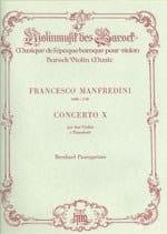Francesco Manfredini - Concerto n° 10 per 2 violini – Partitur - Partition - di-arezzo.fr