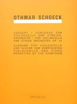Concerto op. 61 – Violoncelle - Othmar Schoeck - laflutedepan.com