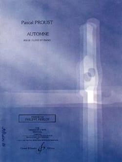 Automne Pascal Proust Partition Flûte traversière - laflutedepan
