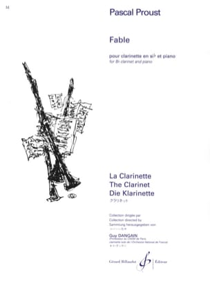Fable Pascal Proust Partition Clarinette - laflutedepan