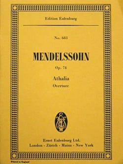 Bartholdy Felix Mendelssohn - Athalia, Ouverture - Partition - di-arezzo.fr