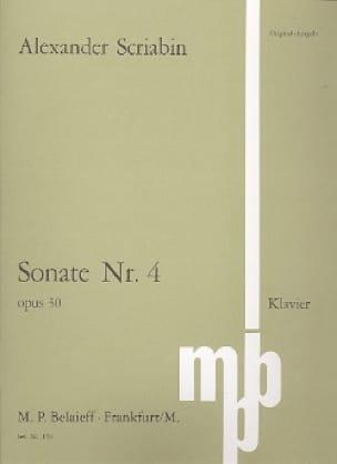 Alexandre Scriabine - Sonate Nr. 4 - Partition - di-arezzo.fr
