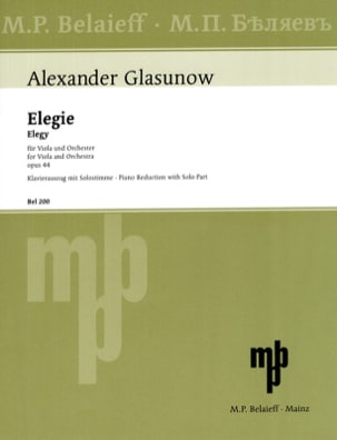 Alexandre Glazounov - Elegy op. 44 - Sheet Music - di-arezzo.co.uk