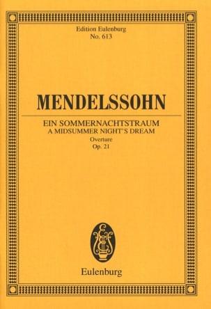 MENDELSSOHN - Sommernachtstraum - Ouvertüre - Partitur - Partition - di-arezzo.fr