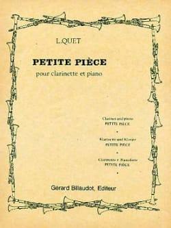 Petite Pièce Louis Quet Partition Clarinette - laflutedepan