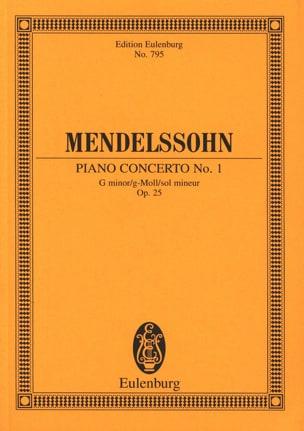 MENDELSSOHN - Klavier-Konzert Nr. 1 g-moll - Partition - di-arezzo.fr