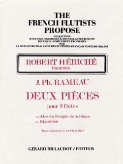 Deux pièces - 3 Flûtes - Jean-Philippe Rameau - laflutedepan.com