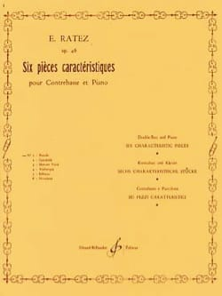 Emile Ratez - Parade op. 46 n ° 1 extr. 6 Characteristic parts - Sheet Music - di-arezzo.com
