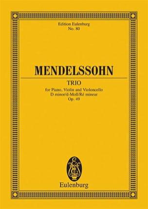 Klavier-Trio d-moll, op. 49 MENDELSSOHN Partition laflutedepan